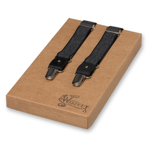 Wiseguy Suspenders - The Herringbone - Schwarz (1)