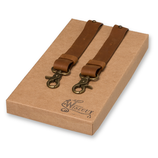 Wiseguy Suspenders - Crazy Horse Genuine Camel Brown (1)