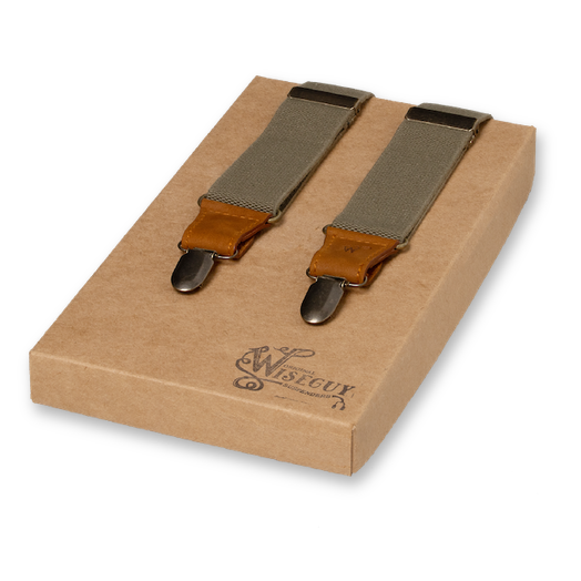 Wiseguy Suspenders - Charger Army Green on Camel (1)